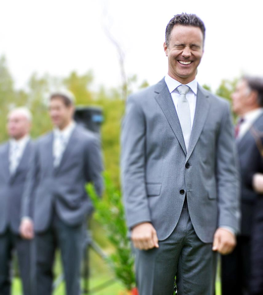 laughing groom wedding photo denver