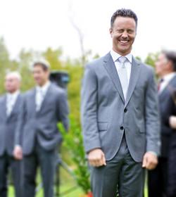 laughing groom wedding photo denver