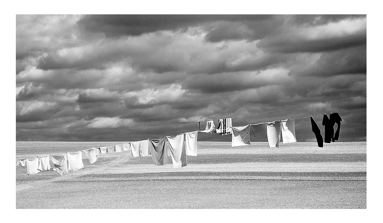 Amish clothes line landscape