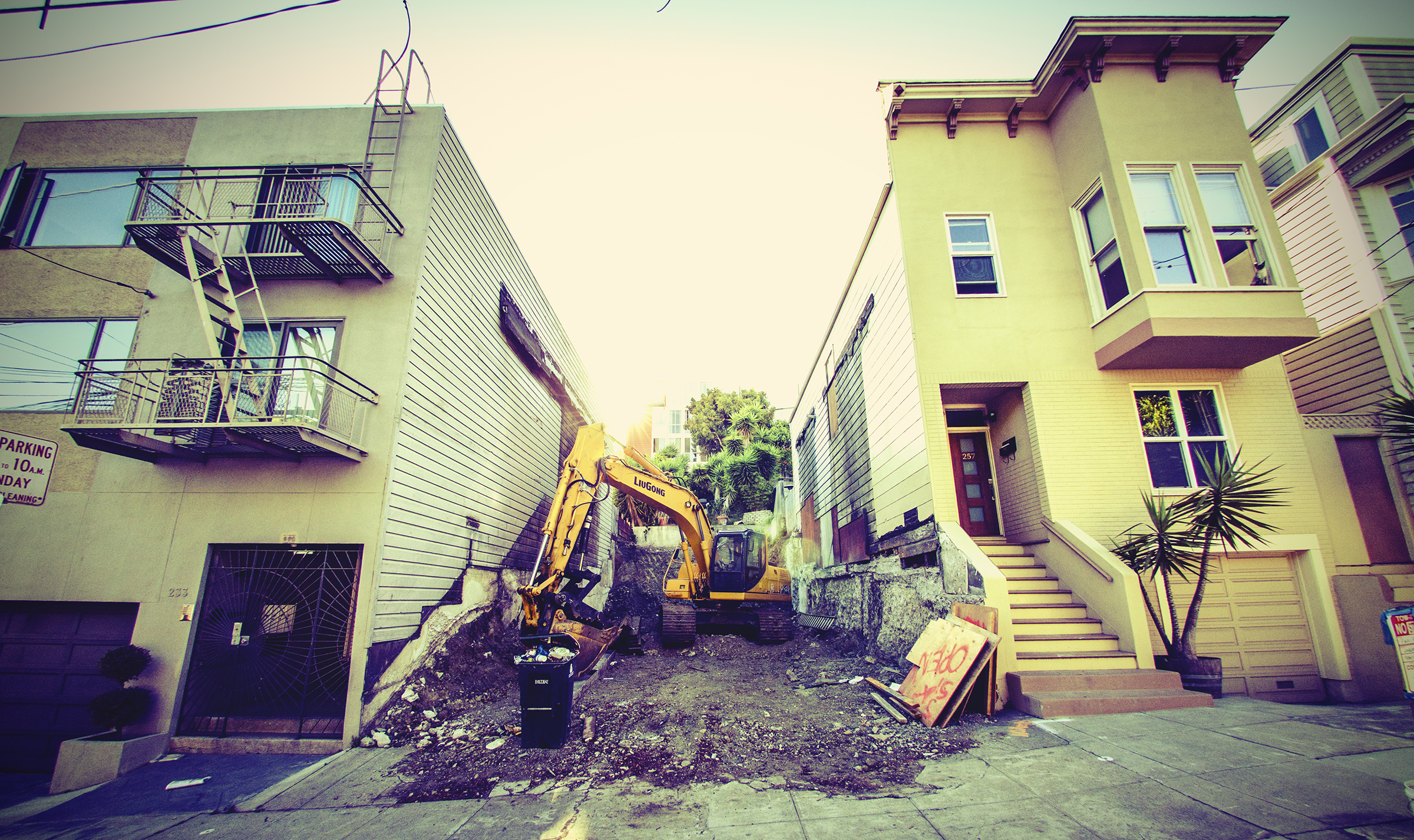 San Francisco home bulldozer