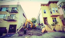 San Francisco home bulldozer