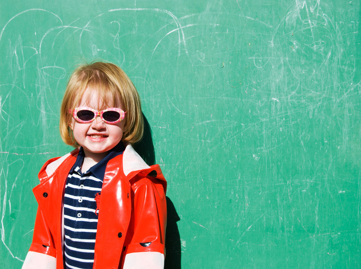 girl chalk board green smile