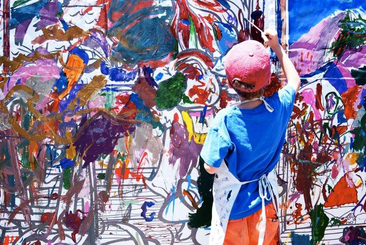 boy art painting wall artist photo