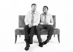 brothers portrait black white