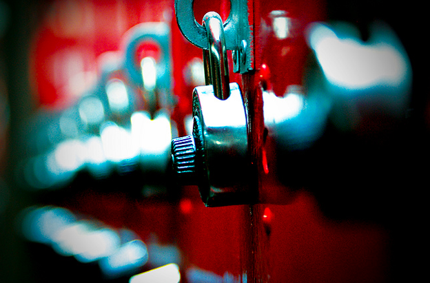 high school lockers locks