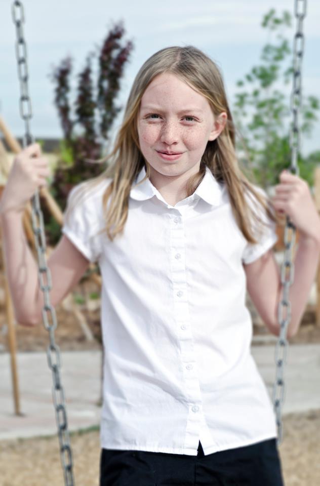 tween girl female on swing