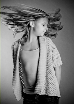 girl teen hair flip