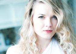 female girl fashion model blue eyes
