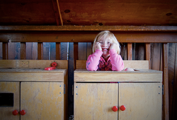 girl in stove play ground