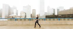 rooftop female denver urban