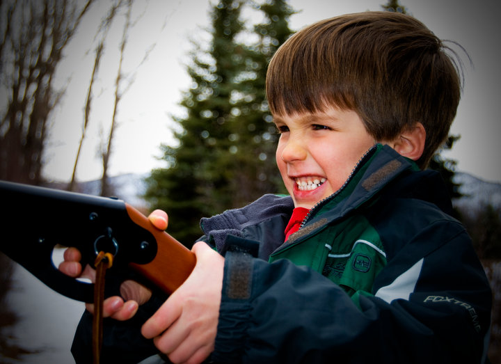 tween shooting bb gun boy