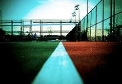 tennis court cross processed
