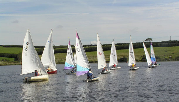 Sailing at Tamar Lakes
