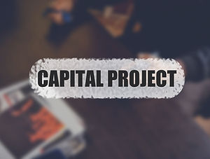 Capital project word with blurring busin