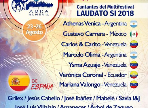 Estaremos en el Multifestival Laudato SI 2018, en Adra, Almería.