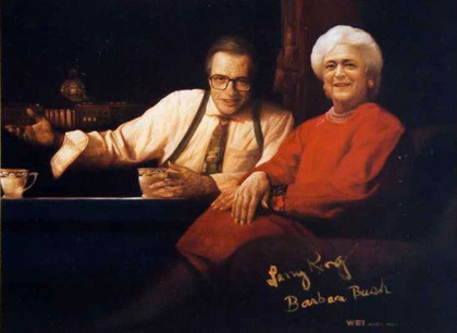 Mrs. Barbara Bush & Mr. Larry King