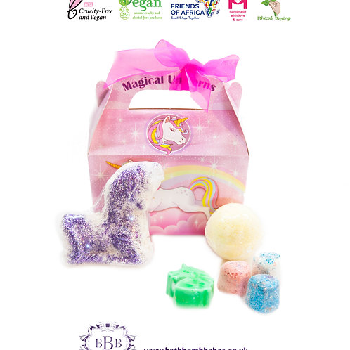 Unicorn bath bomb gift set, christmas gift stocking fillers