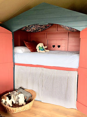 Baby and Toddler Bed at Exe Valley Glamping