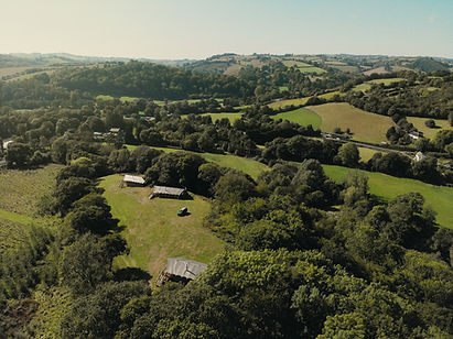 Aerial View of Exe Valley Glamping