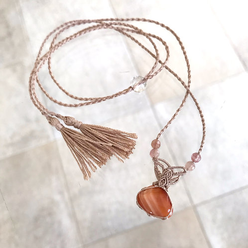 瑪瑙のネックレス