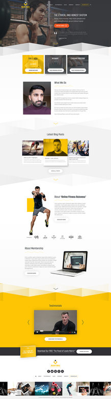 Online Fitness HomePage