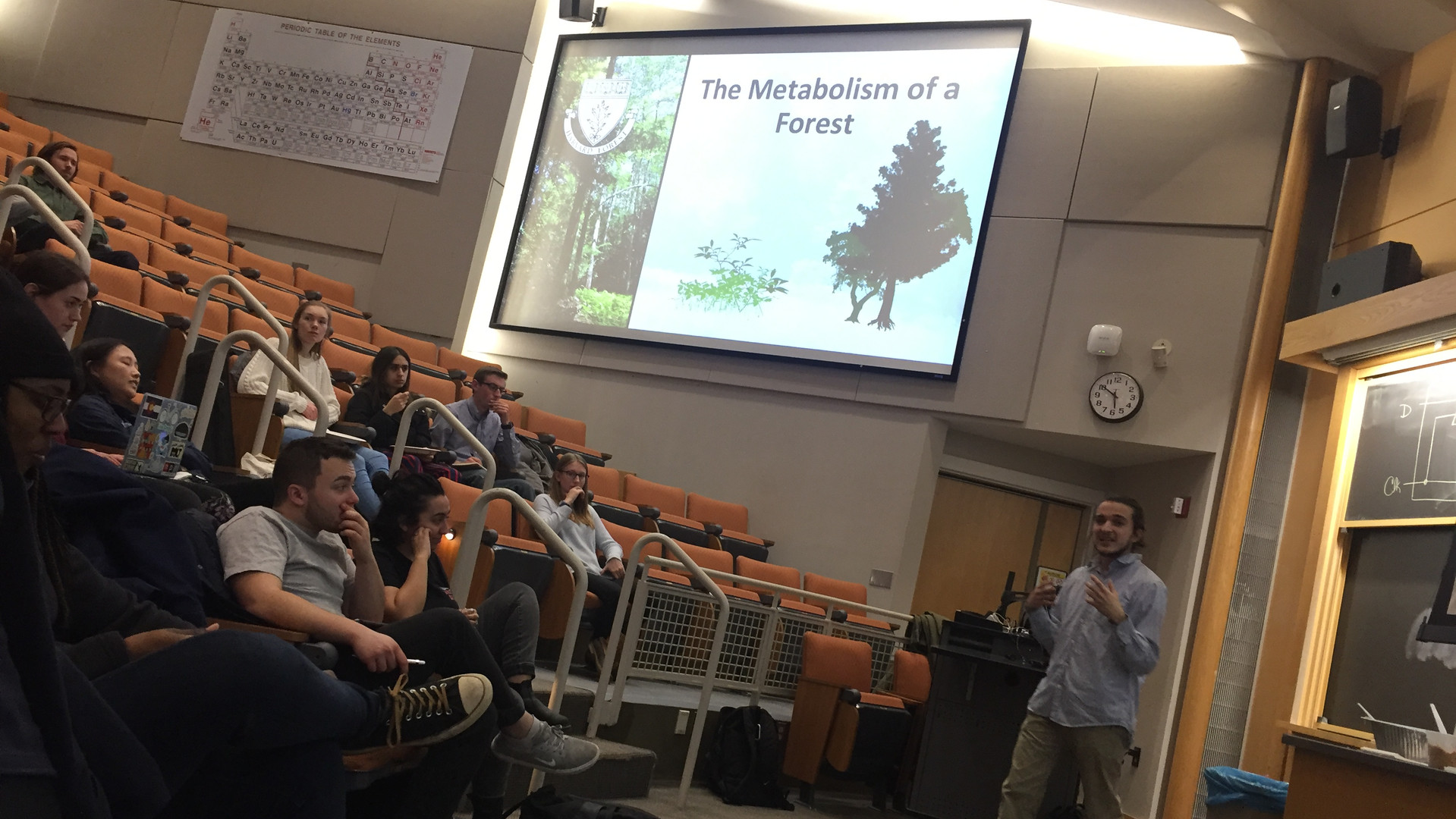 Marcos Rodriguez ('20) presents on his summer research exoerience at Harvard Forest at the Undergraduate Research Symposium