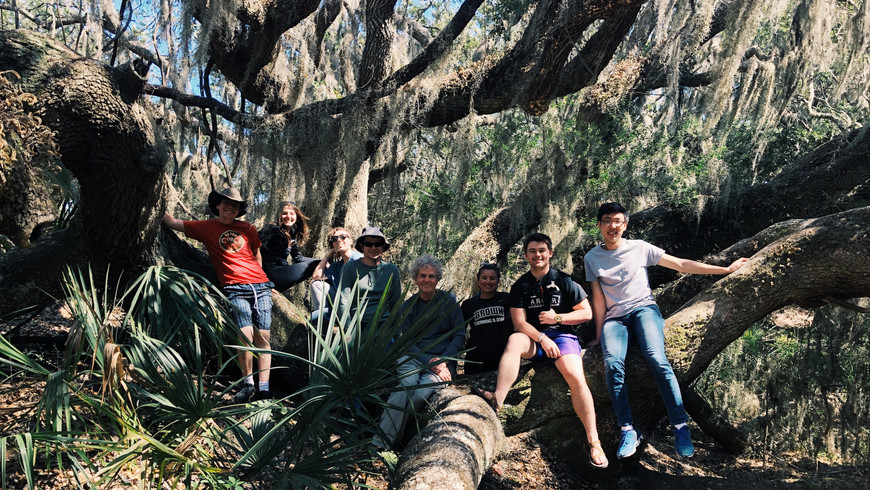 The Marine Biology class takes a week field trip to Sapelo Island, Georgia with professor Mark Bertness to work with ecologists at the University of Floriday.
