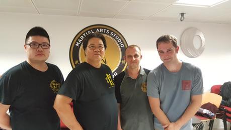 With Sifu John Lobb and his Sifu Garry Lam and son.