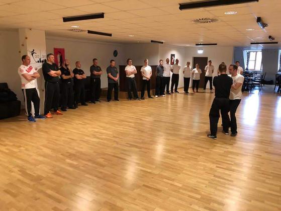 Giving a seminar in Landshut, Germany
