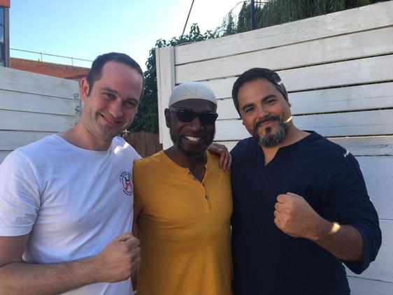 With Sifu Garry McKenzie and Sifu Kleber Battaglia