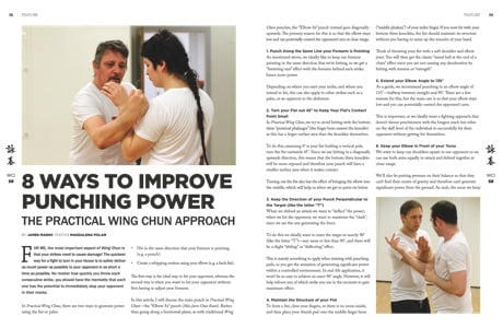 Article for Wing Chun Illustrated Magazine Issue 58