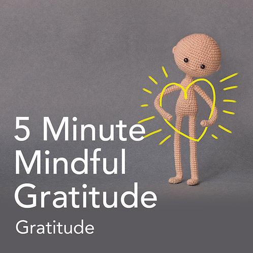 5 Minute Mindful Gratitude
