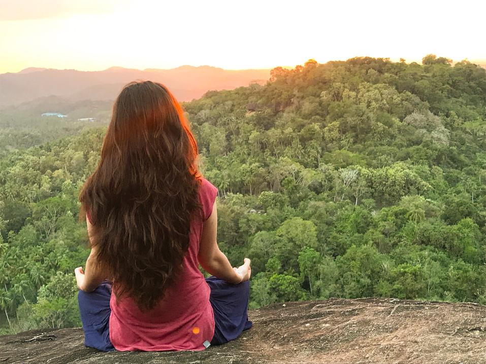 Meditation high above Sri Lankan jungle
