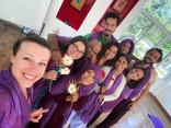 All students with our beautiful Kundalini Teacher Premvarsha Ji