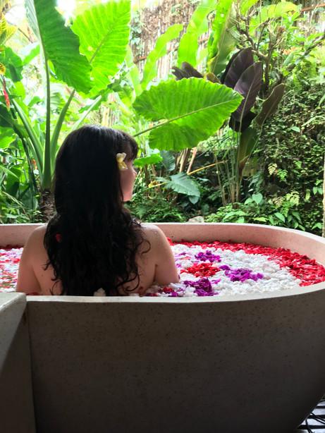 Flower Bath at One World Retreats