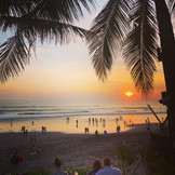 Sunset Views on Seminyak Beach