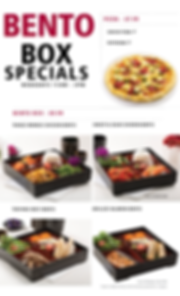 $7.99 Bento Box Specials Menu