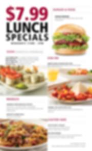 $7.99 Lunch Specials Menu