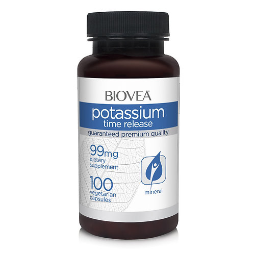 POTASSIUM (TIME RELEASE) 99mg 100 Vegetarian Capsules