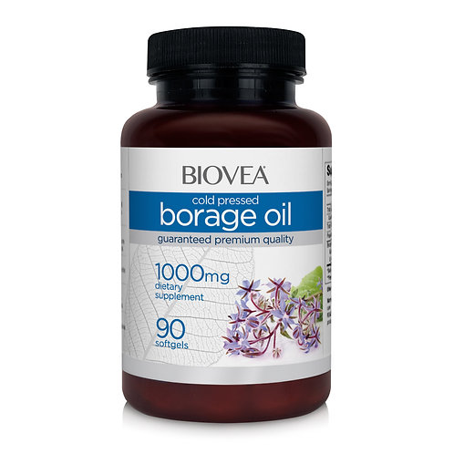 BORAGE OIL (STARFLOWER OIL) 1000mg 90 Softgels
