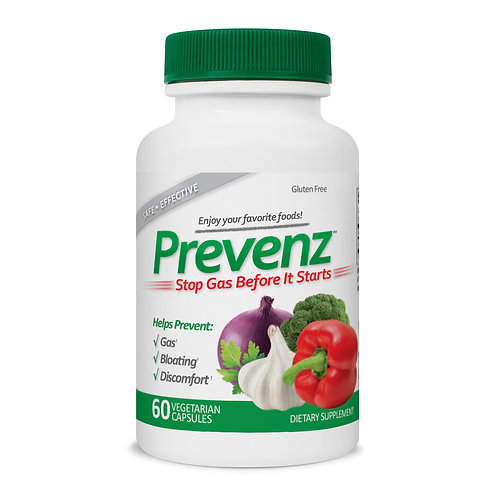 PREVENZ Gas Prevention Enzyme Formula 60 Capsules