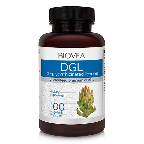 DGL (De-Glycyrrhizinated Licorice) 100 Vegetarian Capsules