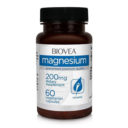 MAGNESIUM 200mg 60 Vegetarian Capsules