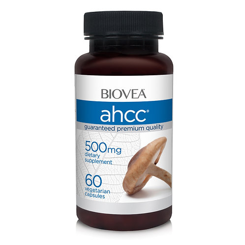 AHCC MUSHROOM IMMUNITY FORMULA 500mg 60 Vegetarian Capsules