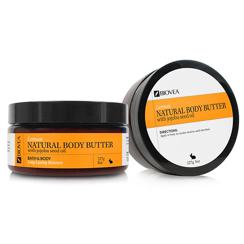 NATURAL BODY BUTTER (Lemon) (8oz) 236.5ml