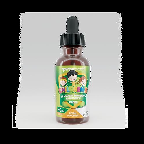 CHILDREN'S SEASONAL IMMUNITY SUPPORT LIQUID DROPS (Alcohol Free) (1 fl oz) 30ml