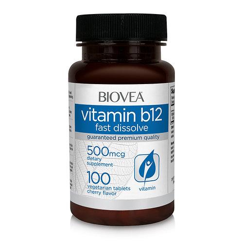 VITAMIN B12 500mcg 100 (Fast Dissolve) Tablets
