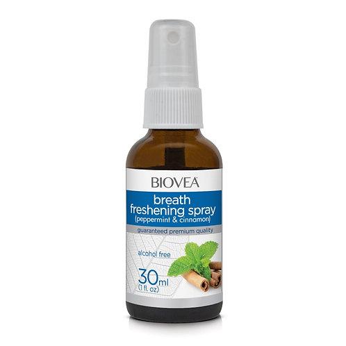 BREATH FRESHENING SPRAY (Peppermint & Cinnamon) (Alcohol Free) (1oz) 30ml