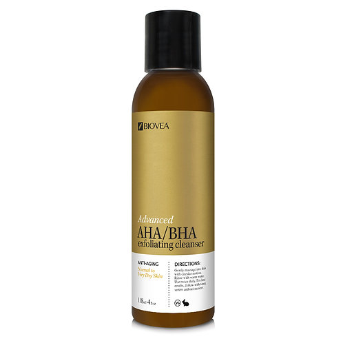 ADVANCED AHA/BHA EXFOLIATING CLEANSER (Organic) (4oz) 118ml