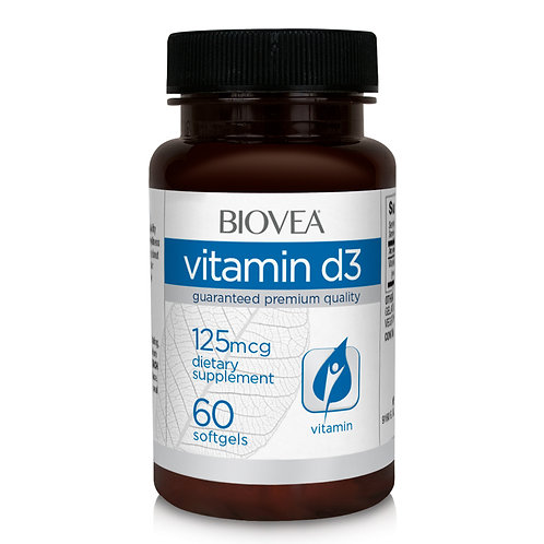 VITAMIN D3 125 mcg (5,000 IU) 60 Softgels
